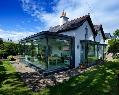 Glass cube extension home design ideas renovations photos for Extension cube
