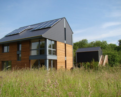 Passive solar house plans houzz for Modern passive solar house plans