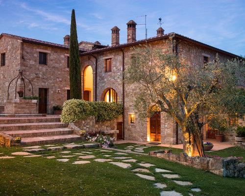 Free immagine della facciata di una casa grande a tre o pi for Piani di casa in stile ranch gratis
