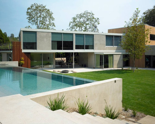 minimalist wood exterior home photo in los angeles. Interior Design Ideas. Home Design Ideas