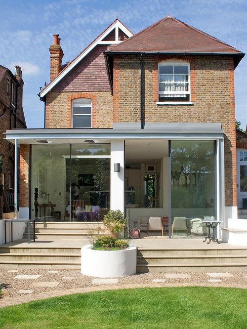 Best split level brick exterior home design ideas for Split level extension ideas