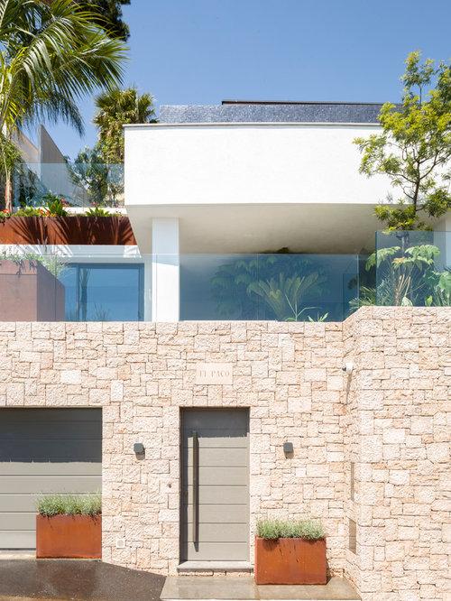 Photos d 39 architecture et id es d co de fa ades de maisons for Facade maison moderne pierre