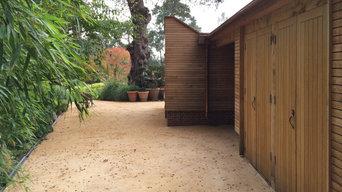 Oak clad garden sheds