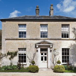 Inspiration for a classic house exterior in Gloucestershire.