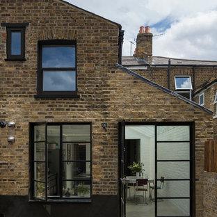 Contemporary brick exterior in London.