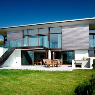 Inspiration for a contemporary two floor exterior in Devon.