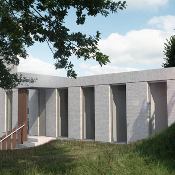 Self Build – Earth Sheltered in Open Countryside