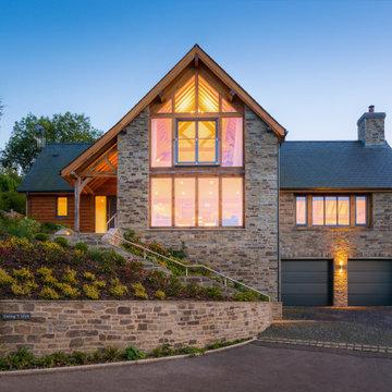Self Built Oak Frame House