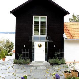 Modelo de fachada nórdica de tamaño medio