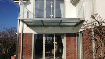 Stainless Steel Balcony with glass floor.