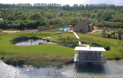 Houzz Британия: Маленький дом с большим видом на озеро