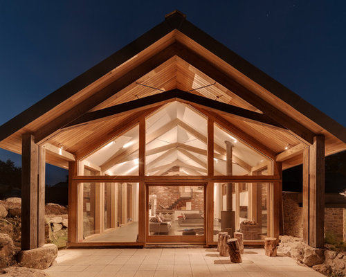 vaulted ceiling beam ideas - Gable End Home Design Ideas Remodel and Decor