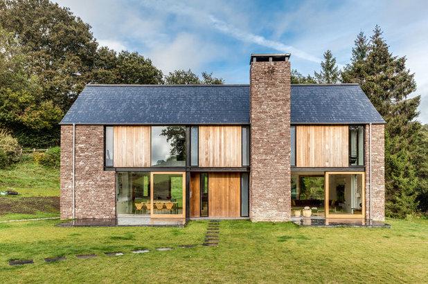 Contemporáneo Fachada by Hall + Bednarczyk Architects