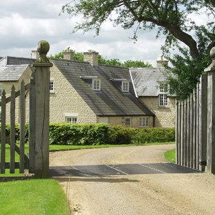 Esempio della facciata di una casa classica