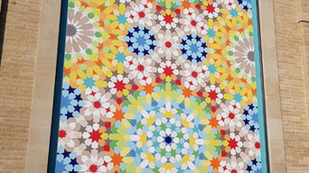 Very large Morrocan geometric composition