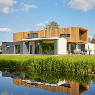 Inspiration for a modern house exterior in Wiltshire.