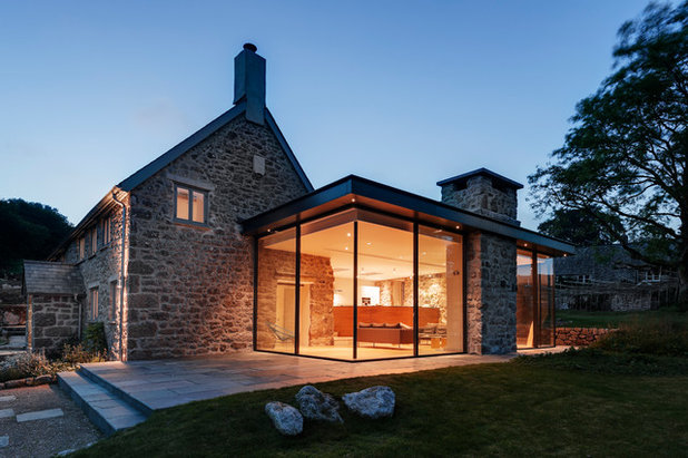 Houzz tour a dartmoor farmhouse with a contemporary extension - Glass extensions to houses ...