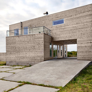 Inspiration for an industrial exterior home remodel in Gothenburg