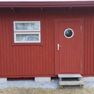 Inspiration for a scandinavian exterior home remodel in Other