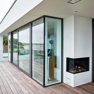 Ispirazione per la facciata di una casa unifamiliare moderna