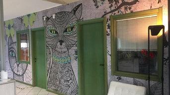 decorazione parete uffici