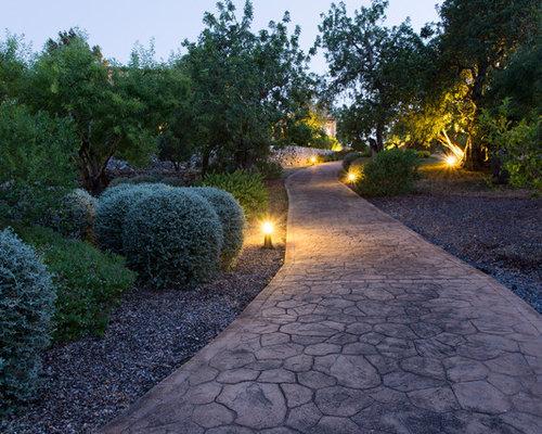Fotos de exteriores dise os de exteriores de estilo de - Diseno de jardines para casas de campo ...