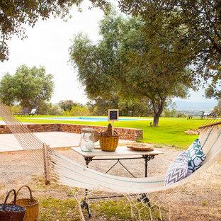 Diseño de jardín de secano, rural, en patio