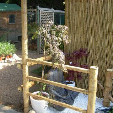 detalle valla de bambu