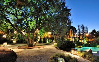 Cómo iluminar el jardín por la noche para disfrutarlo mucho más