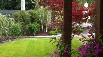 Jardín privado en Asturias