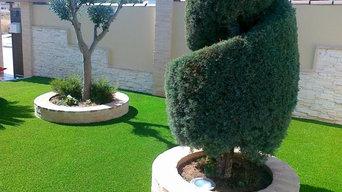 Jardines césped artificial