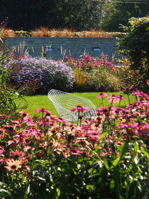 Fotos de exteriores dise os de exteriores de estilo de for Jardines exteriores de casas de campo