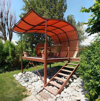 18 id es pour concevoir une pergola de r ve dans son jardin. Black Bedroom Furniture Sets. Home Design Ideas
