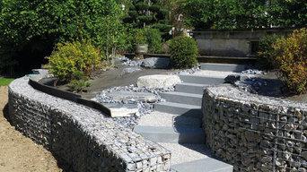 Aménagements de jardins : escaliers, murets, soutènements