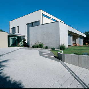 Design ideas for a large contemporary courtyard landscaping in Strasbourg.