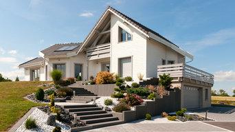 Création complète des espaces verts d'une maison neuve clé en main.