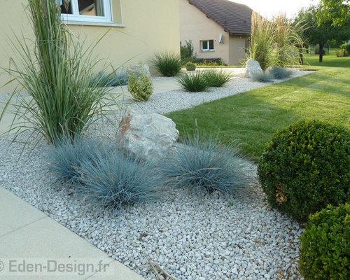 Jardin avec une entr e ou une all e de jardin strasbourg photos et id es d co de jardins for Idee amenagement entree strasbourg