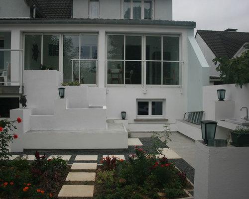extension via v randa et am nagement terrasse jardin. Black Bedroom Furniture Sets. Home Design Ideas