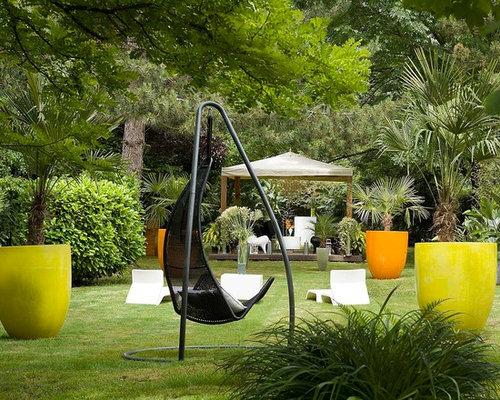 Jardin la fran aise contemporain photos et id es d co de jardins la fran aise - Idee jardin contemporain ...