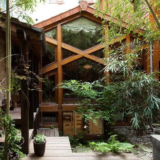 Idées déco pour un petit jardin asiatique avec une exposition ombragée et une entrée ou une allée de jardin.