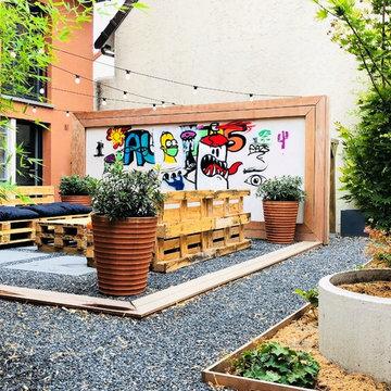Jardin d'expression : l'aménagement original d'un patio