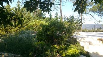 Jardin dans les ocres