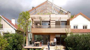 Jardin écologique et terrasse contemporaine