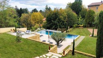 Magnifique jardin en restanque Saint Cyr au mont d'or