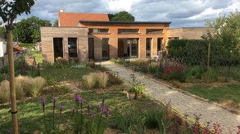 Maison bois et jardin