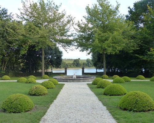 Jardin classique photos et id es d co de jardins - Idees amenagement cour ou allee en gravier ...