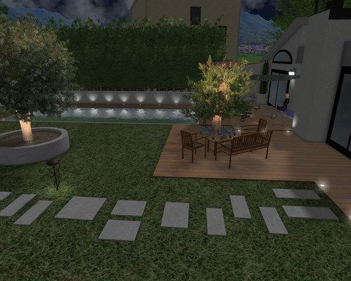 Piscine design avec un jardin épuré