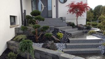 réalisation d'un escalier paysagé