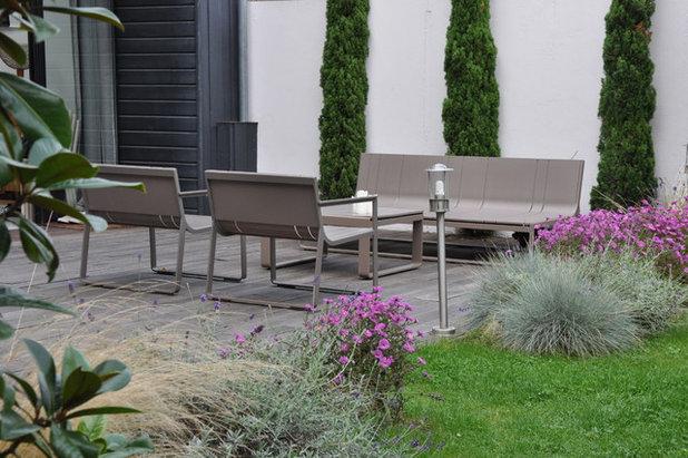 Visite priv e un jardin contemporain et familial colombes - Jardin moderne minecraft colombes ...