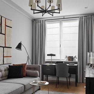 Пример оригинального дизайна: кабинет в стиле современная классика